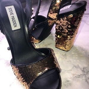 Steve Madden Chunky Sequin Heels